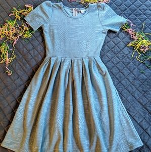LuLaRoe Amelia baby blue dress